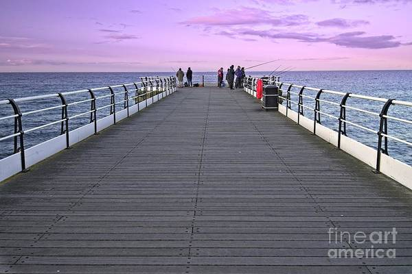 Photograph - Evening Fishing On Saltburn Pier by Martyn Arnold