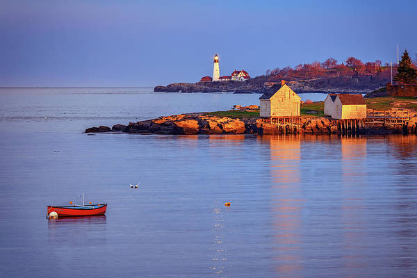 Wall Art - Photograph - Evening Glow At Willard Beach by Rick Berk