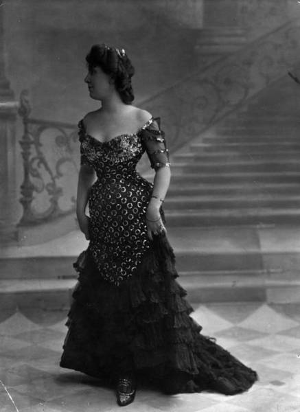 Evening Wear Photograph - Evening Gown by London Stereoscopic Company