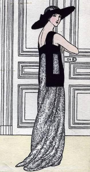 Evening Wear Photograph - Evening Gown by Rischgitz