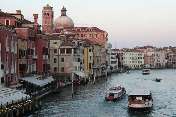 Jasmin Photograph - Evening In Venice Along Grand Canal by Jasmin Lee