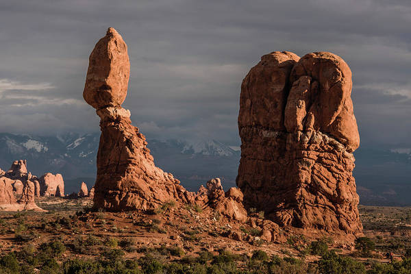 Photograph - Evening Light On Balanced Rock by William Christiansen