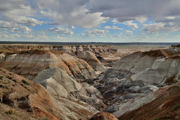 Photograph - Evening Light On Blue Mesa In Petrified Forest by Ray Mathis