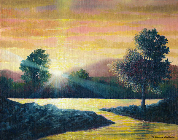 Painting - Evening Light On The Lake by Douglas Castleman
