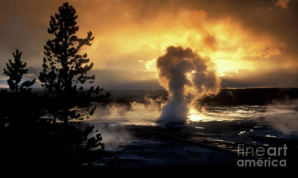 Wall Art - Photograph - Evening Magic - Yellowstone National Park by Sandra Bronstein