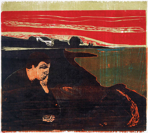 Wall Art - Painting - Evening. Melancholy - Digital Remastered Edition by Edvard Munch