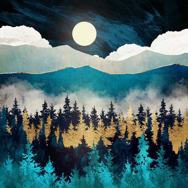 Wall Art - Digital Art - Evening Mist by Spacefrog Designs