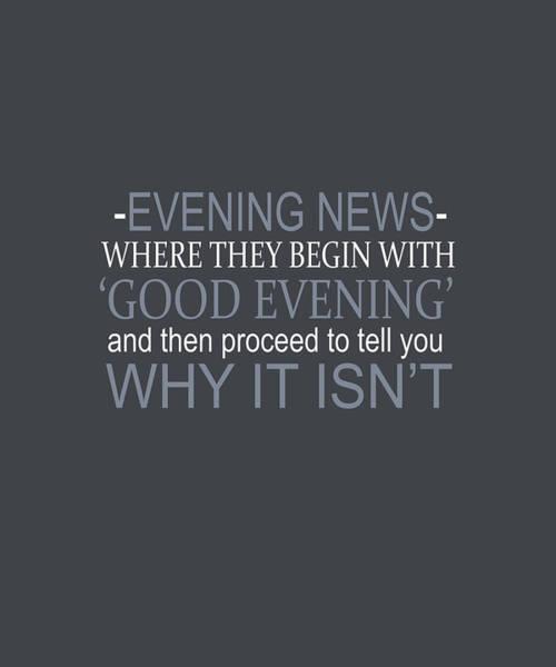 Evening News Art Print