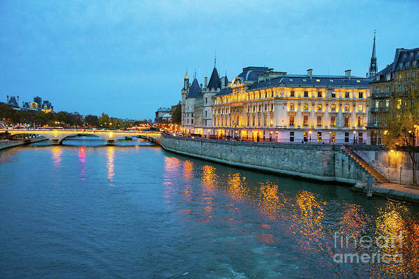 Wall Art - Photograph - Evening On The Seine River Paris France by Wayne Moran