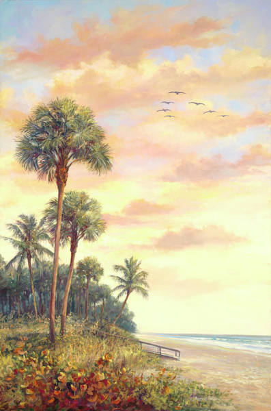 Sea Oats Painting - Evening Patrol by Laurie Snow Hein