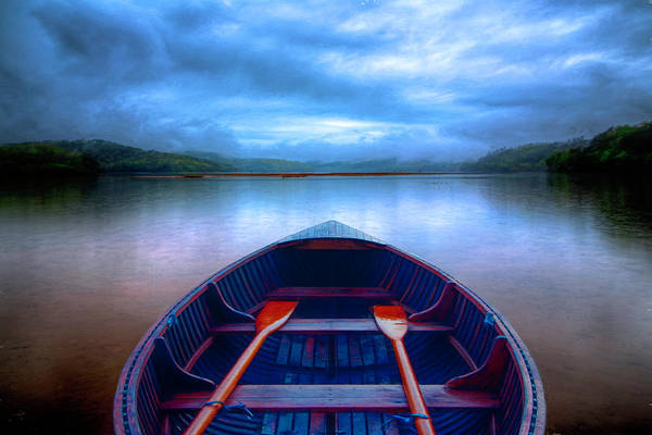 Wall Art - Photograph - Evening Rowboat Blues by Debra and Dave Vanderlaan