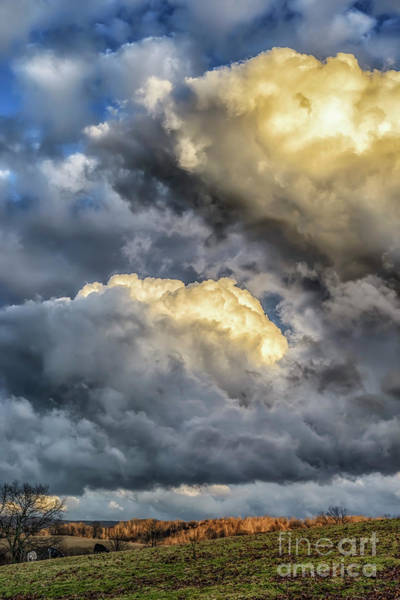 Photograph - Evening Storm Clouds by Thomas R Fletcher