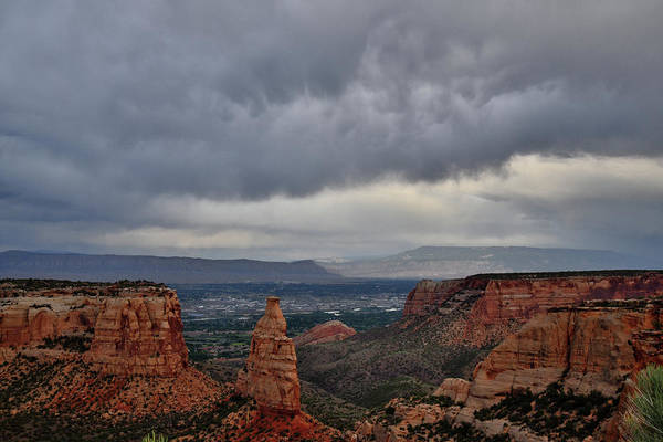Photograph - Evening Storm Over Grand Junction by Ray Mathis