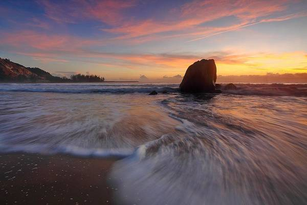 Photograph - Evening Sunset by Seascapes
