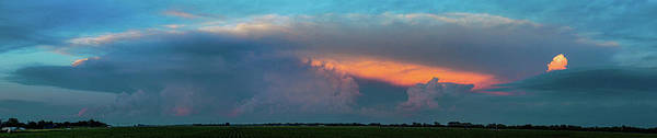 Photograph - Evening Supercell And Lightning 023 by Dale Kaminski