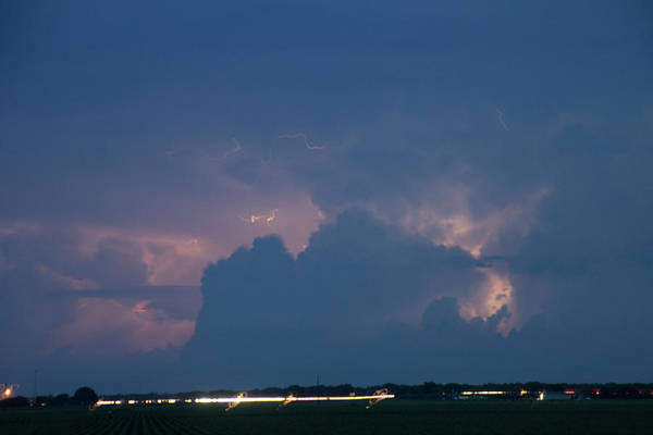 Photograph - Evening Supercell And Lightning 032 by Dale Kaminski