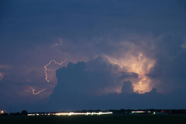 Photograph - Evening Supercell And Lightning 033 by Dale Kaminski