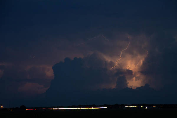 Photograph - Evening Supercell And Lightning 034 by Dale Kaminski