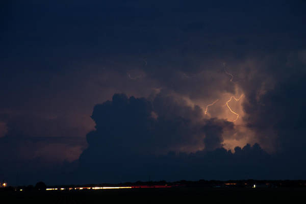 Photograph - Evening Supercell And Lightning 036 by Dale Kaminski