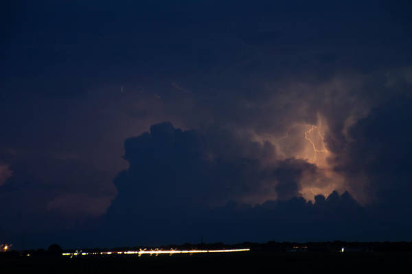 Photograph - Evening Supercell And Lightning 037 by Dale Kaminski