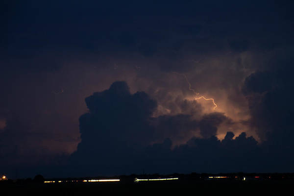 Photograph - Evening Supercell And Lightning 038 by Dale Kaminski