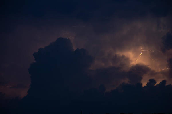 Photograph - Evening Supercell And Lightning 039 by Dale Kaminski