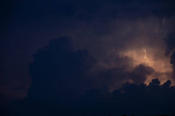 Photograph - Evening Supercell And Lightning 040 by Dale Kaminski