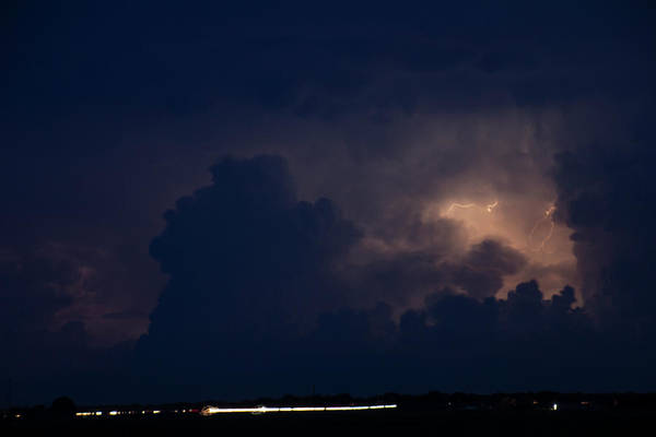 Photograph - Evening Supercell And Lightning 041 by Dale Kaminski
