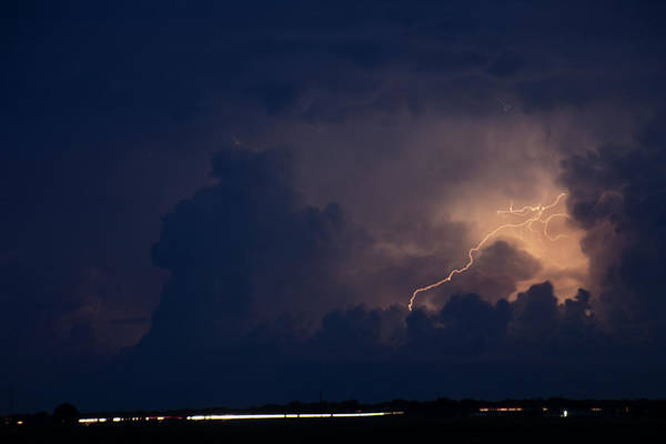 Photograph - Evening Supercell And Lightning 042 by Dale Kaminski