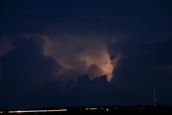 Photograph - Evening Supercell And Lightning 044 by Dale Kaminski