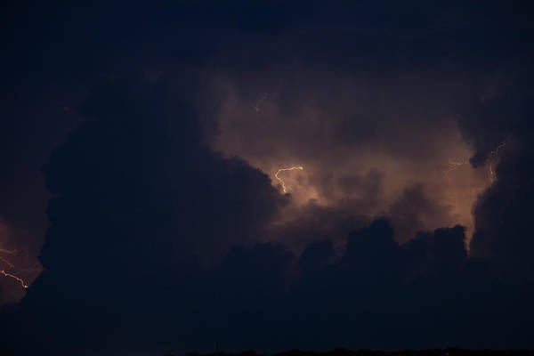 Photograph - Evening Supercell And Lightning 045 by Dale Kaminski