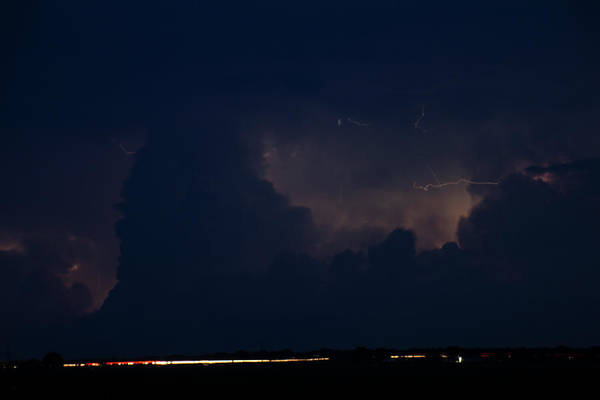 Photograph - Evening Supercell And Lightning 047 by Dale Kaminski