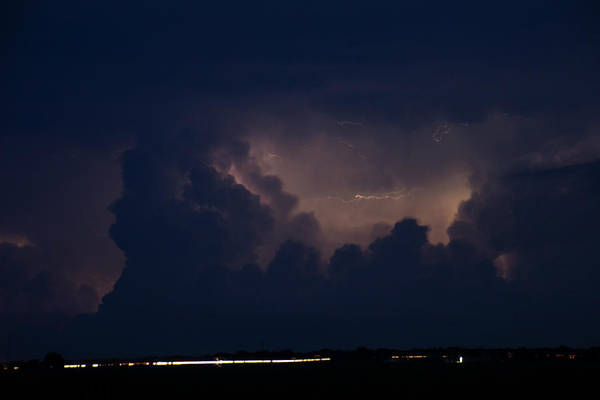 Photograph - Evening Supercell And Lightning 049 by Dale Kaminski