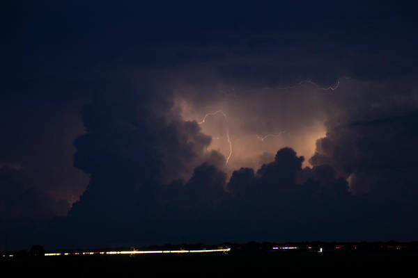 Photograph - Evening Supercell And Lightning 050 by Dale Kaminski
