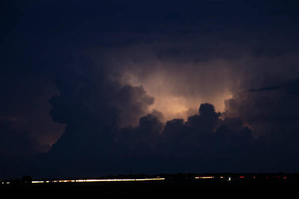 Photograph - Evening Supercell And Lightning 052 by Dale Kaminski