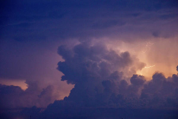Photograph - Evening Supercell And Lightning 053 by Dale Kaminski