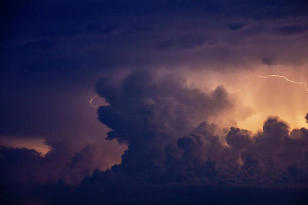 Photograph - Evening Supercell And Lightning 054 by Dale Kaminski