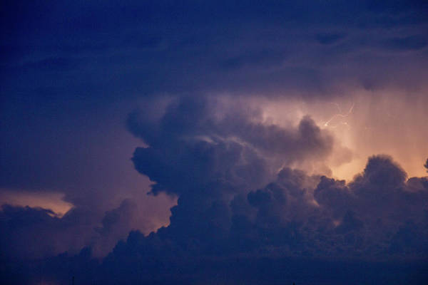 Photograph - Evening Supercell And Lightning 055 by Dale Kaminski