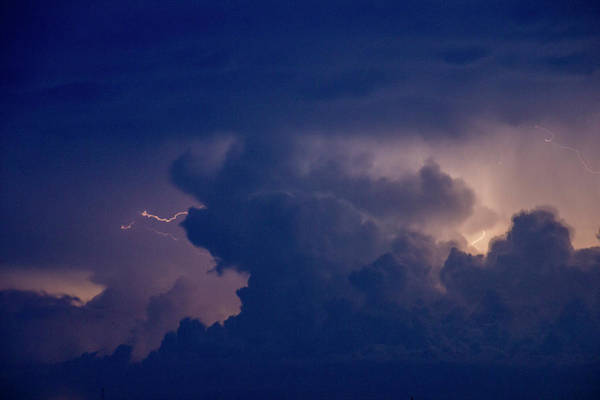 Photograph - Evening Supercell And Lightning 056 by Dale Kaminski