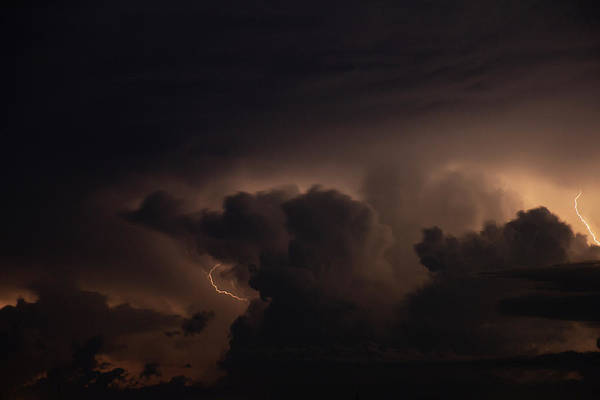 Photograph - Evening Supercell And Lightning 060 by Dale Kaminski