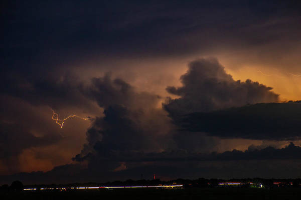 Photograph - Evening Supercell And Lightning 061 by Dale Kaminski