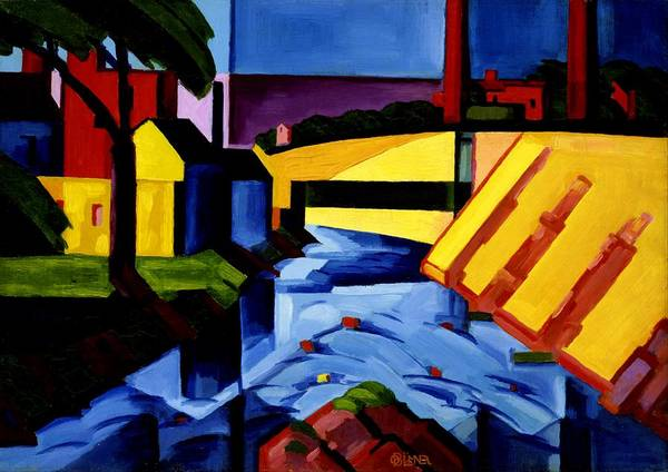 Wall Art - Painting - Evening Tones - Digital Remastered Edition by Oscar Bluemner