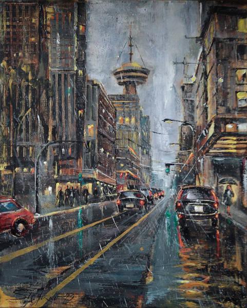 Painting - Evening Traffic II by Stefano Popovski