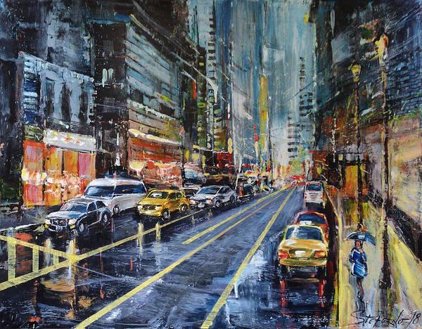 Painting - Evening Traffic by Stefano Popovski