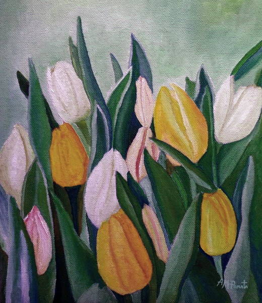Painting - Evening Tulips by Angeles M Pomata