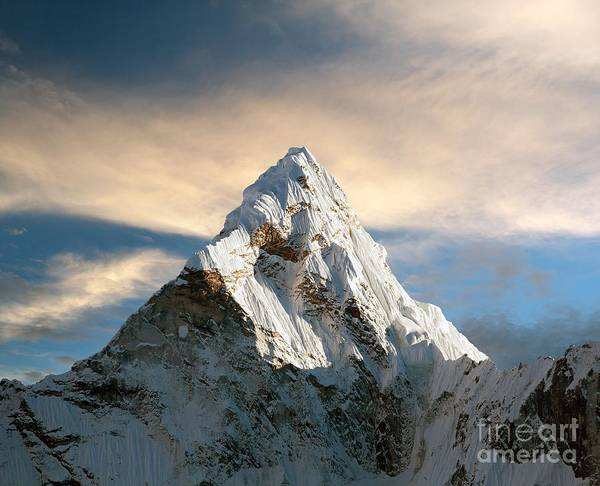 Camp Wall Art - Photograph - Evening View Of Ama Dablam With by Daniel Prudek