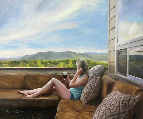 Wall Art - Painting - Evening Views by Anna Rose Bain