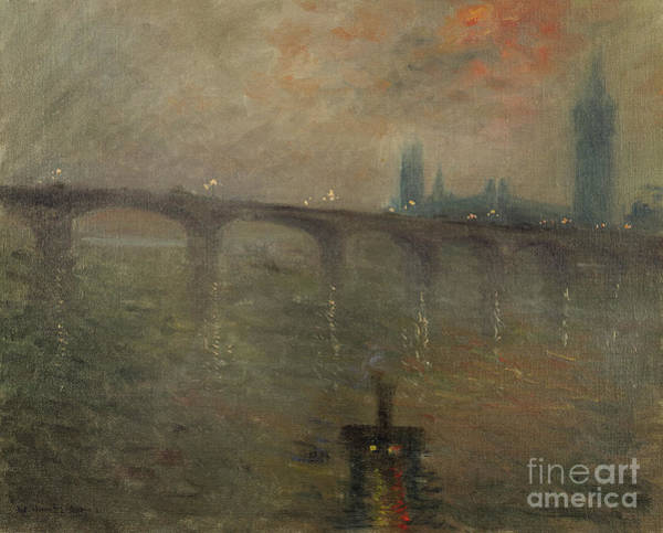 Wall Art - Painting - Evening, Westminster From Waterloo Bridge by Jacques-Emile Blanche
