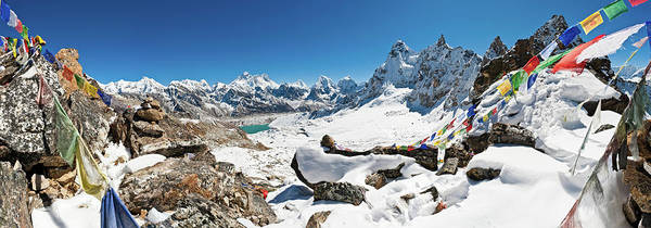 Gokyo Photograph - Everest Prayer Flags Mountain Pass by Fotovoyager