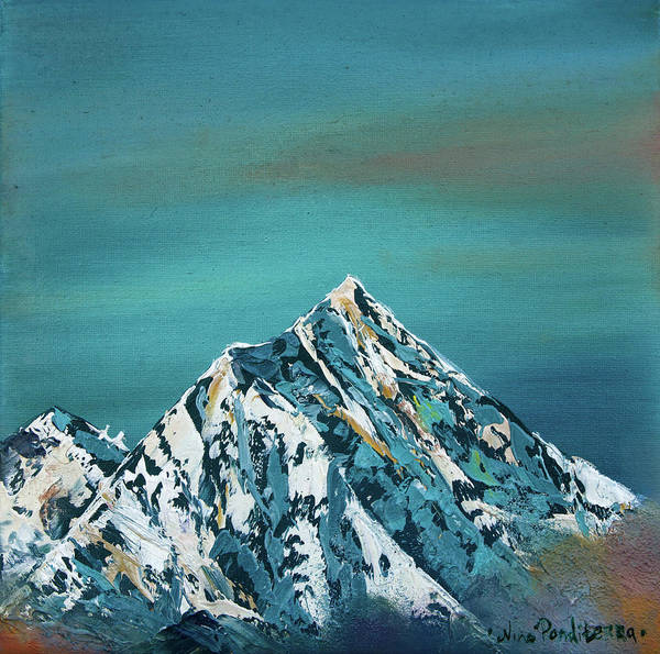 Tibetan Mastiff Painting - Everest Sky - Original Oil Painting On Stretched Canvas  by Nino Ponditerra